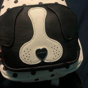 Betsey Johnson Bags - Betsey Johnson polka dot puppy backpack